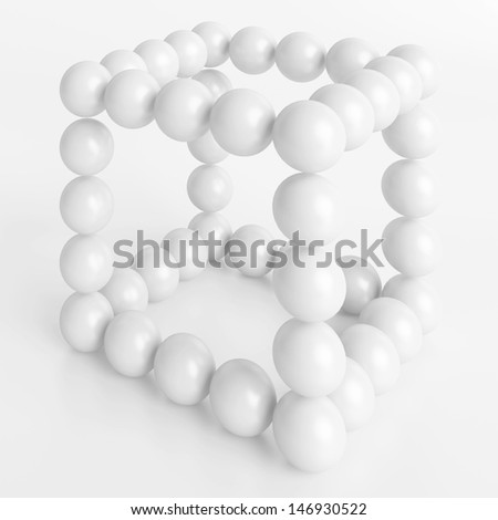 3d White Futuristic Science Concept - stock photo