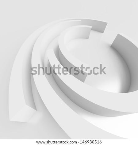 3d White Modern Interior Design - stock photo