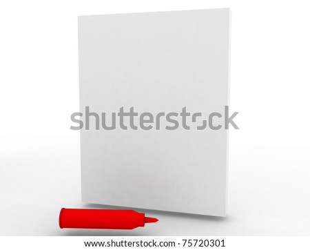 3d white notebook isolated on white - stock photo