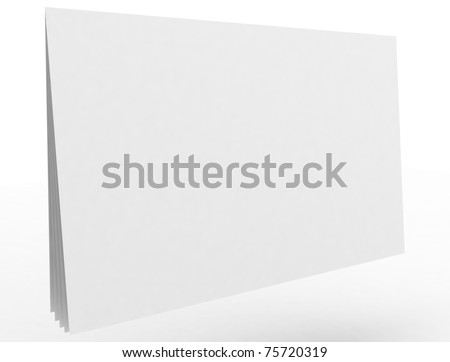3d white notebook isolated on white
