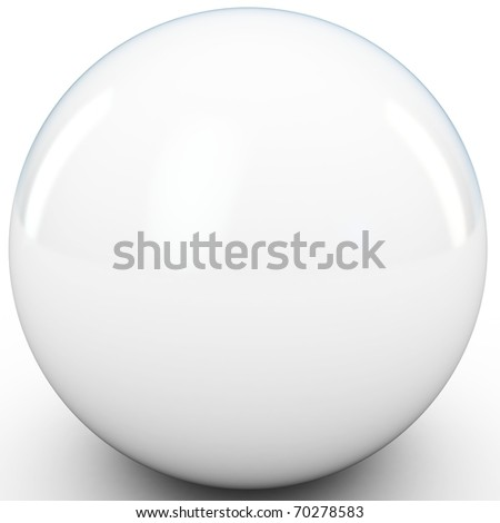 3d white sphere in studio environment isolated on white - stock photo