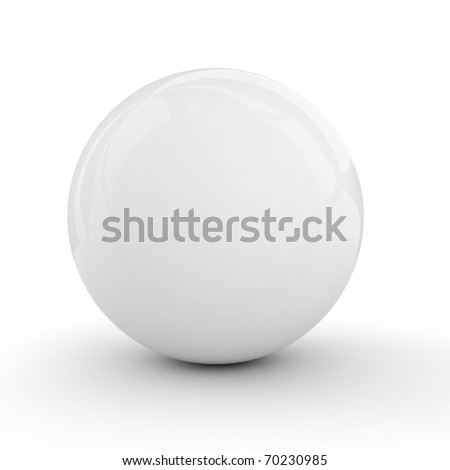 3d white sphere isolated on white - stock photo