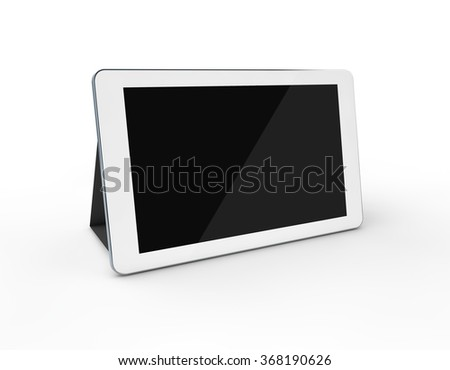 3d white Tablet on the white background