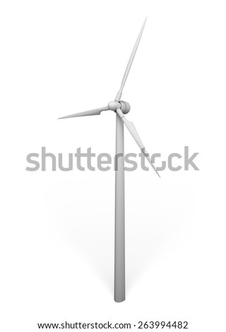 3D. Wind Turbine, Energy, Alternative Energy.