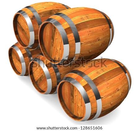 3d Wine storage - stock photo