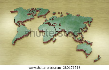 3d world map borders stock images royalty free images vectors 3d world map gumiabroncs Images