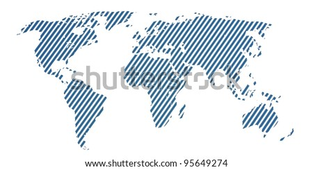 3d world map rendering global concept background