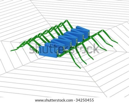 3D WWW. - stock photo