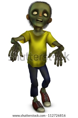 3d zombie - stock photo