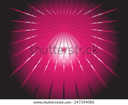 dark background and pink ray  - stock photo