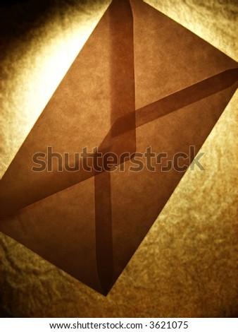 dark envelope - stock photo