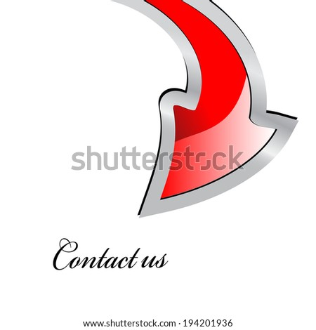 - dart point at Contact us - stock photo