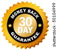 30 day money back guarantee - stock vector