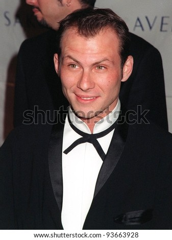03DEC97:  Actor CHRISTIAN SLATER at the Fire & Ice Ball at Paramount Studios, Hollywood, to benefit the Revlon/UCLA Women's Cancer Research Program.