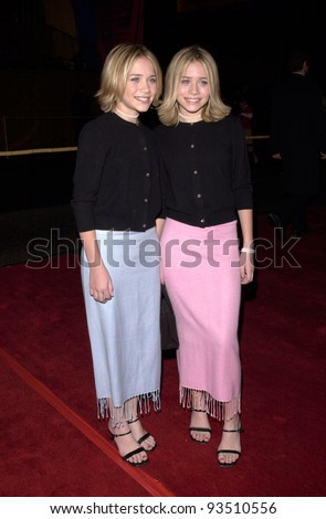 "15DEC99: Actress twins MARY-KATE & ASHLEY OLSEN at the Los Angeles premiere of ""Anna and the King"" which stars Jodie Foster.  Paul Smith / Featureflash - stock photo"