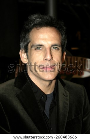 16 December 2004 - Hollywood, California - Ben Stiller. The premiere of 'Meet The Fockers' at the Universal Amphitheatre Universal Studios in Hollywood.  - stock photo