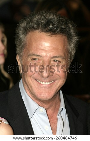 16 December 2004 - Hollywood, California - Dustin Hoffman. The premiere of 'Meet The Fockers' at the Universal Amphitheatre Universal Studios in Hollywood. - stock photo