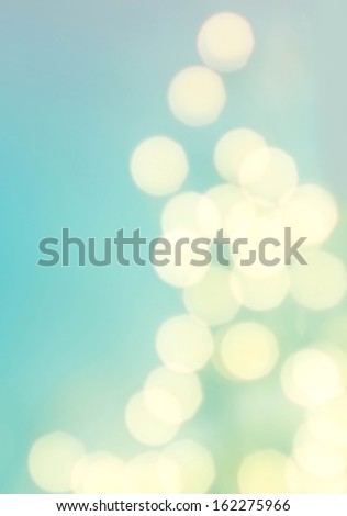 Defocused Natural Bokeh Vintage background with golden lights.  Twinkling lights blur background.  - stock photo