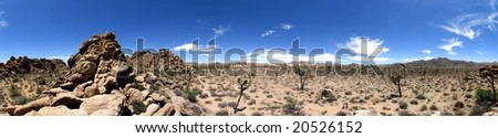 360 deg. panorama view of Joshua Tree National Park