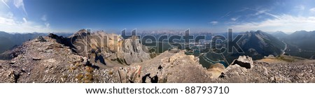 360 Degree View of East Rundle Summit, Canmore, Alberta, Canada