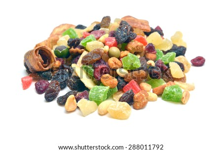 dehydrated fruits  - stock photo