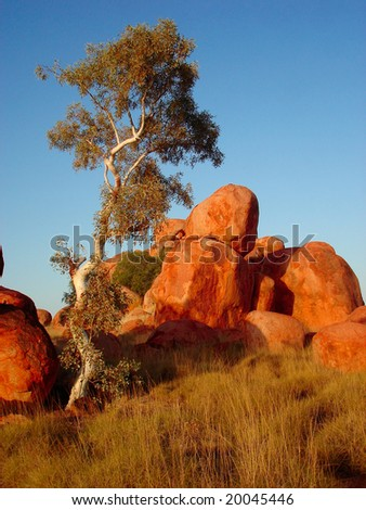 Devil´s  Marbles - stock photo