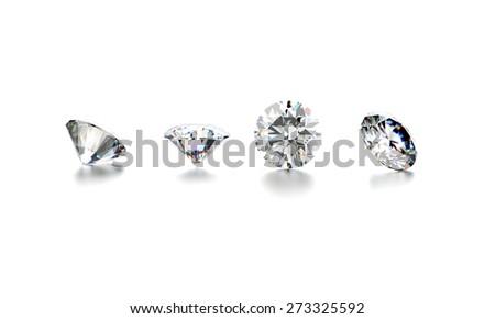 Diamond. Jewelry background - stock photo