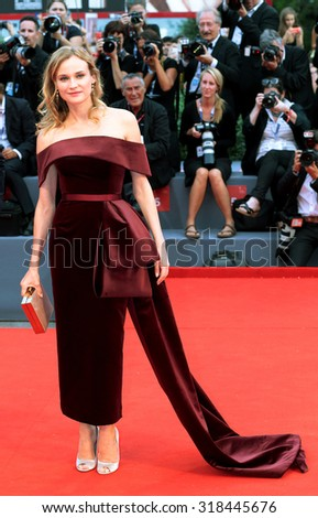 Diane Kruger at the premiere of Black Mass at the 2015 Venice Film Festival. September 4, 2015  Venice, Italy  - stock photo