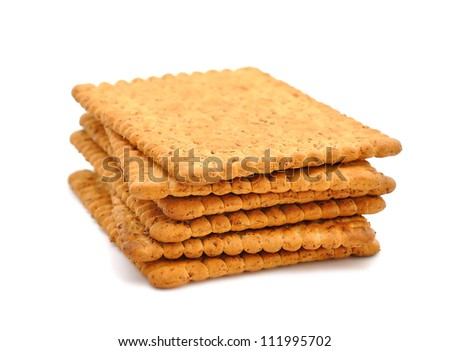 Dietary bran crackers on a white background