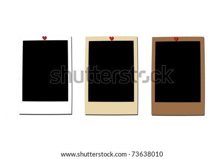 3 different color instant photo - stock photo
