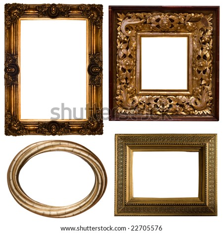 different frames isolated on white