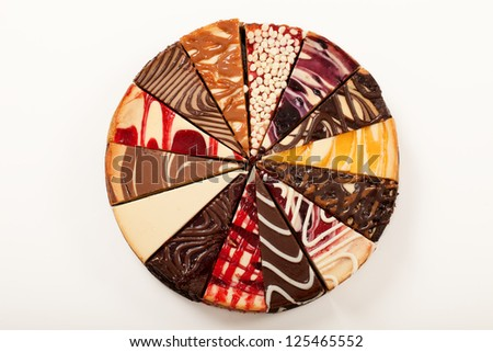 14 Different Slices Cheesecake Make Complete Stock Photo 100 Legal