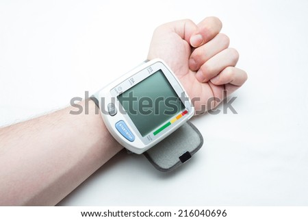 Digital blood pressure isolated  - stock photo