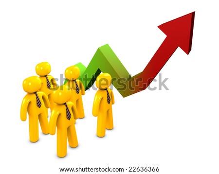 3dimage, stock market watch concept - stock photo