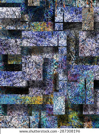 3 dimensional abstract - stock photo