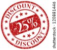 25% discount stamp - stock photo