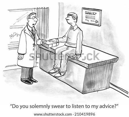 """Do you solemnly swear to listen to my advice?"" - stock photo"