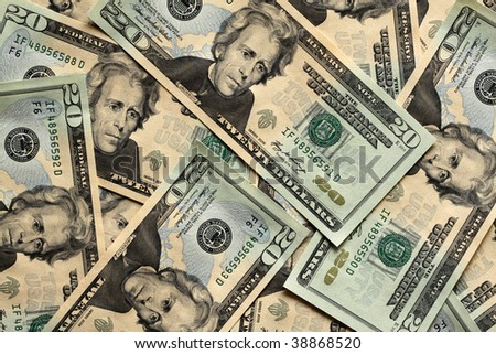 20 Dollar Banknotes - stock photo