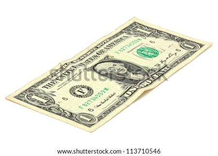 1 dollar bill - stock photo
