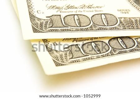 100 dollar bills - stock photo