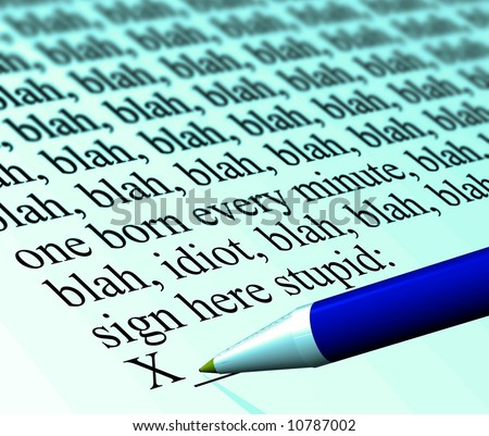 """""""Don't sign that!"""" contract concept - stock photo"""