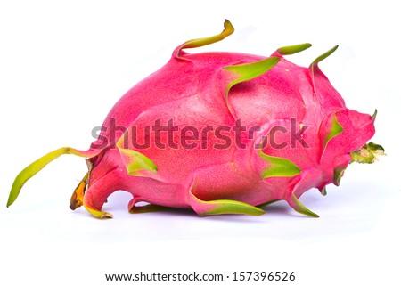 Dragon fruit ripe isolated on white background  - stock photo