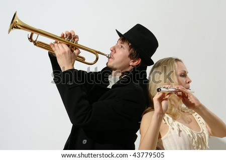 duet - stock photo