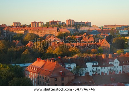 Early autumn morning on October 12, 2012 in Gothenburg. Gothenburg is the second largest city in Sweden.