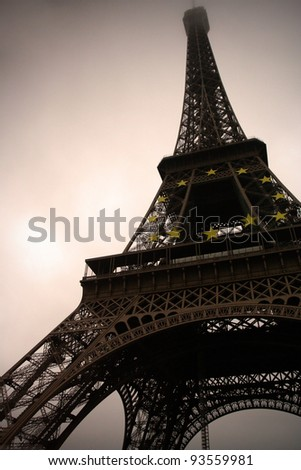 eiffel tower at the paris, france - stock photo