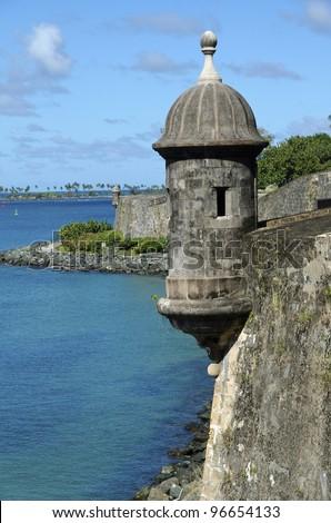 El Morro Fort in Old San Juan - stock photo