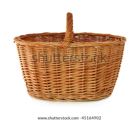Empty basket isolated on white background - stock photo