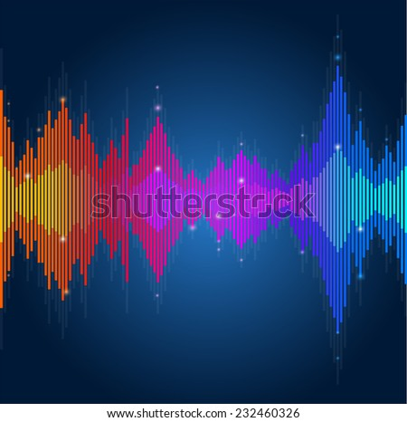 equalizer, colorful musical bar - stock photo