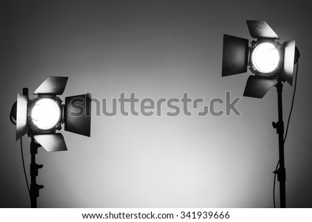 Equipment for photo studios and fashion photography - stock photo