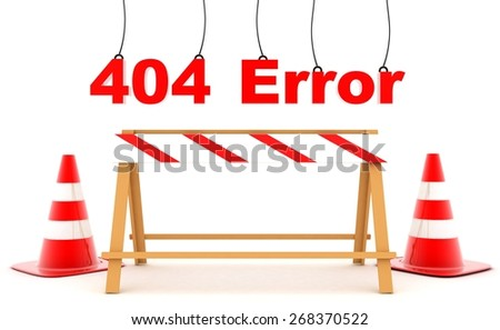 404 Error - stock photo